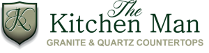 The Kitchen Man GRANITE AND QUARTZ COUNTERTOPS LOGO